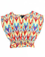 Girls Printed Chiffon Top (4-6X) Multi 4