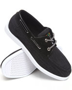 Coogi Men Louis 3 Chambray Boat Shoe Black 8