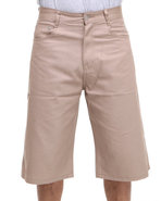 Men Steady Colour Twill Shorts Khaki 40