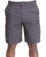 Men Ripstop Cargo Shorts Black 40