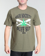 Men High Society Tee Olive Large