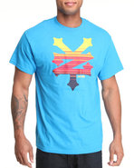 Men Cracker Sysmic Tee Light Blue Medium