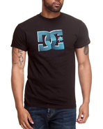 Dc Shoes Men Direct Stripes Tee Black Small