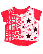 Coogi Girls Hi-Low Coogi Love Top (4-6X) Red 4