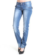 Women Fly With Me Jeans Blue 1