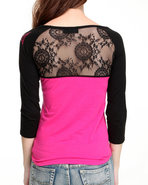 Tapout Women 3/4 Sleeve Top Black Medium