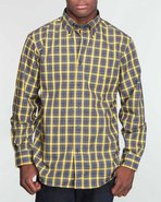 Men Multi Plaid W/ Chest Pocket Butto/ N-Down Yell