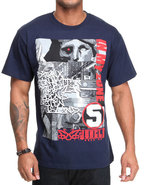 5Ive Jungle Men Montage Tee Navy Large