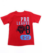 Boys Athletic Jersey Tee (4-7) Red 7 (L)