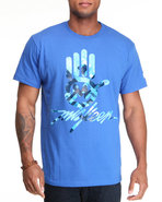 Men Miskeen Signature Hand Tee Blue Xx-Large