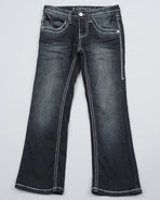 Girls Z. Cavaricci Starbust Pocket Bootcut Jeans (