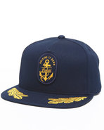 Men Anchor Snapback Cap Gold