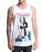 Men Business Before Pleasure Tank White 3X-Large