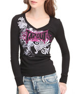 Tapout Women Thermal Tee Black Large