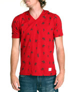 Akoo Men Logan Knit Tee Red Large