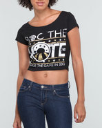 Women Roc The Vote Graphic S/S Tee Black Medium