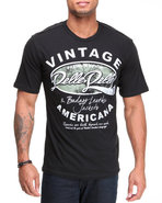 Men S/S Vintage Americana Tee Black Xx-Large
