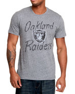 Men Oakland Raiders Gameday Triblend Tee Grey X-La