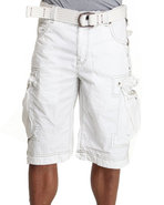Men Logo Cargo Short White 40