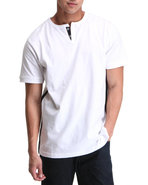 Men Thompson Y-Neck T-Shirt White 4X-Large