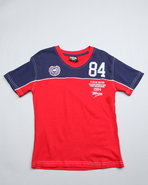 Boys Winger V Neck Tees (8-20) Red 14/16 (L)