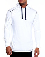 Men Solid Jersey Pullover Shirt White Xx-Large