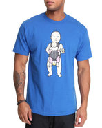 Men Big Baby Tee Blue Large