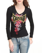 Tapout Women Blackfest Thermal Tee Black Small