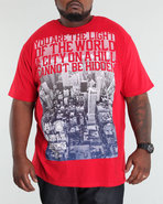 Men Fade Out Tee (B +T) Red 3X