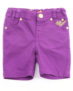 Girls Bermuda Shorts (4-6X) Purple 6