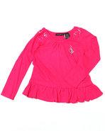 Girls Ruffle Tunic (4-6X) Pink 4