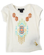 Girls Aztec Tee (7-16) Cream 8/10 (M)