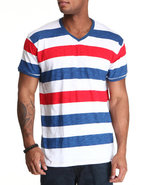 Wesc Men Striped Tee Blue Large