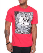 Wesc Men Los Muertos Tee Red Large