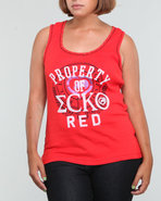 Women Active Tank (Plus) Red 2X