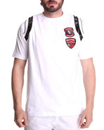 Men Double Patch Tee White X-Large