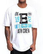 Men Athletic Crew Tee White X-Large