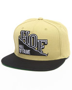 Hall Of Fame Men Mountain Snapback Cap Yellow