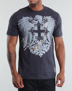 Mo7 Men Mo7 Wings Graphic Tee Grey Large