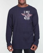 Men Dutch &amp; Harley Motors Thermal Navy X-Large