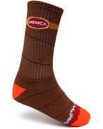 Men Spliff Socks Brown