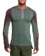Men Bravara L / S Performance Top Green Large