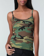 Drj Army/Navy Shop Women Rothco Woodland Camo Tank