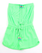 Girls Neon Romper (4-6X) Lime Green 6X (L)