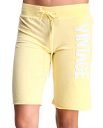 Women Vintage Active Bottoms Yellow Small
