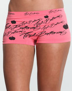 Women Allover Signature Seamless Short Orange Medi