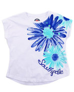 Girls Daisy Tee (7-16) Blue 14/16 (Xl)