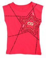 Coogi Girls Coogi Star Tee (4-6X) Red 4