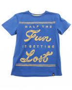 Boys Get Lost Tee (8-20) Blue 14/16 (L)