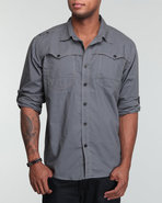 Men Rush Roll Up Shirt Grey X-Large